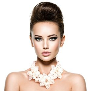 Jewelry - Pearl and Flower Choker Necklace Set